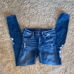 Medium wash American Eagle ripped jeans